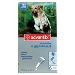 ADVANTIX 6 X  4.0 ML MAS DE 25 KG DE PESO
